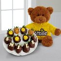 Smile Berries with Plush Bear