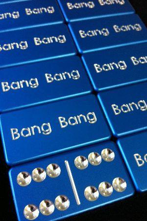 Blue Custom Dominoes