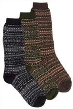 Fair Isle Alpaca Crew Sock