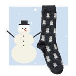 Snowman Alpaca Sock