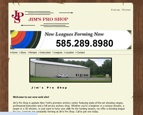 Jim's Pro Shop Website