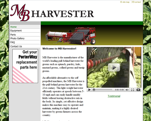 MB Harvester Website