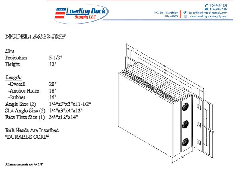 Steel Faced Dock Bumper