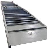 Steel girders provide yard ramps with rigidity