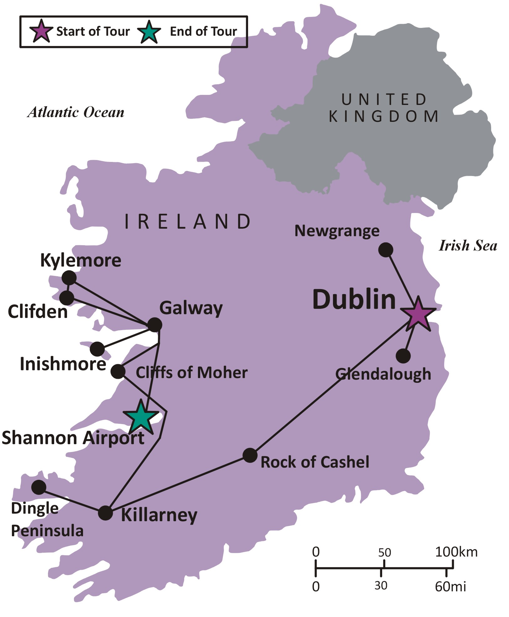 Map Of Ireland Showing Dingle.Sights And Soul Travels Ireland Dublin And The Emerald Isle