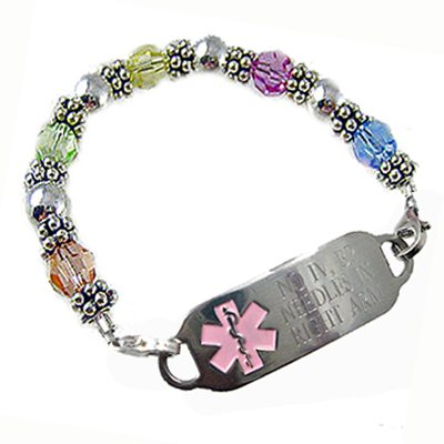 Deluxe Pastel Crystal Fantasy Medical Bracelets