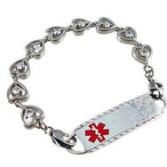 Stainless Heart Medical Alert Bracelet