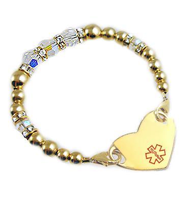 Medical Heart Charm Bracelet