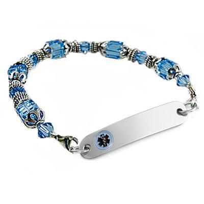 Ladies Crystal Passion Medical ID Bracelets