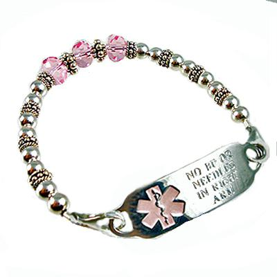 Silver Trio Medical ID Bracelets