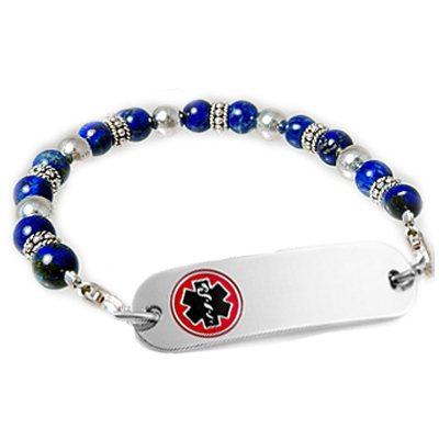 Silver Blues Petite Medical Jewelry