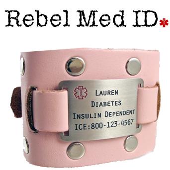 Studded Leather Medical Band