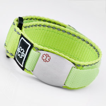 Neon Yellow-Green Medical ID Sports Straps