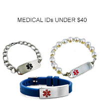 Creative Medical ID Alert Bracelets and stylish jewelry