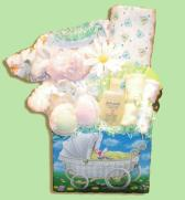Baby Carriage Baby Gift Basket