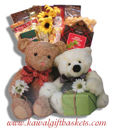 Bear Friends Gift Basket