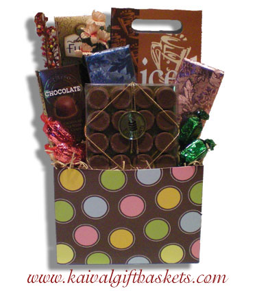 Chocolate Buttons Gift Basket
