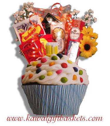 Cupcake Birthday Gift Basket