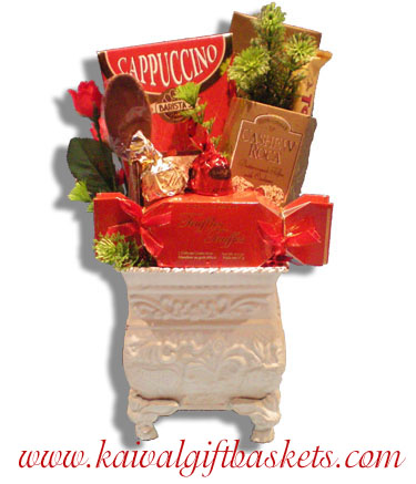 Hearts gift basket