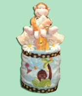 Jungle Monkey Diaper Cake