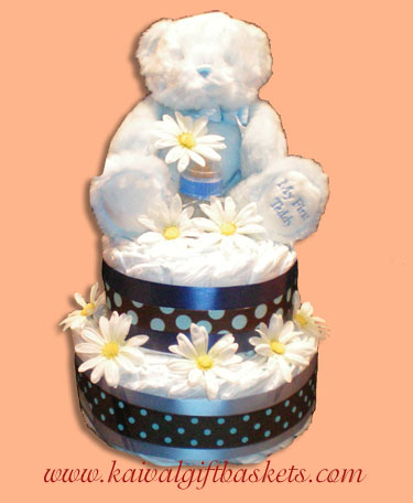 My First Teddy Diaper Cake