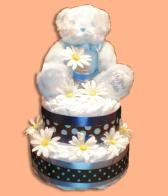 My First Teddy Boy  Diaper Cakes-Baby Shower Gifts