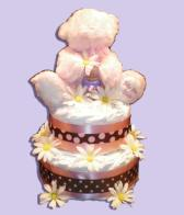 My First Teddy - Girl Diaper Cake Toronto - SOLD OUT