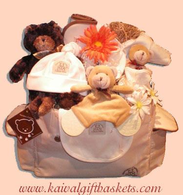 Natural Charm Bag Baby Gift Basket