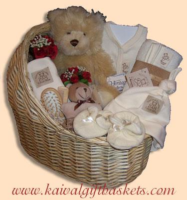 Natural Charm Baby Gift Basket