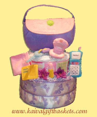 Plush Purse Diaper Cake