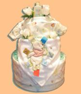 Pooh Bear Diaper Cake-Baby Shower Gifts