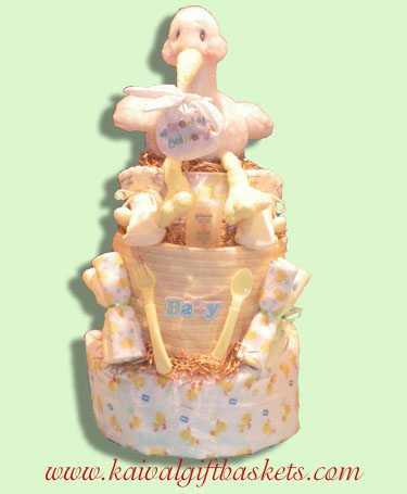 Stork Delivery- Baby Diaper Cakes