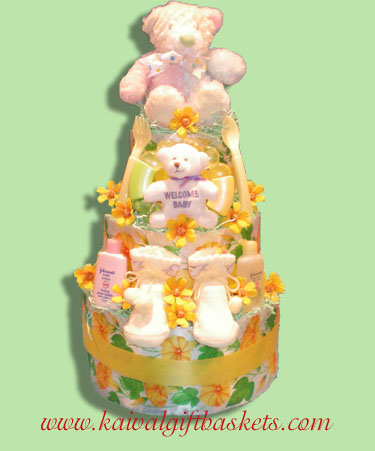 Welcome Baby Diaper Cakes