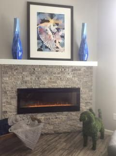 New Electric fireplace with Stone