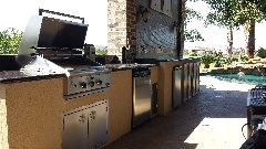 Outdoor Kitchen with Beer Tap