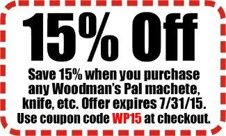 Woodman's Pal machete