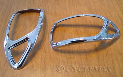 Goldwing GL1800 Big Bike Parts Show Chrome Mirror Accent