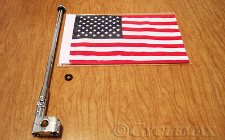 Trunk Rack Mount Flag Pole with Flag