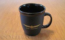 Black Ceramic Goldwing Mug