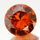 red/orange zircon natural colors, no heat