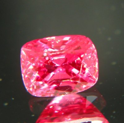Traffic light red Burma spinel