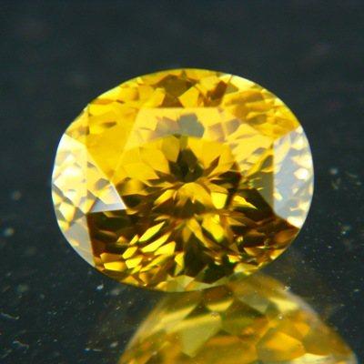Golden yellow Burmese Zircon