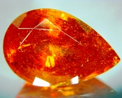 World-size record clinohumite in neon orange from Tajikistan