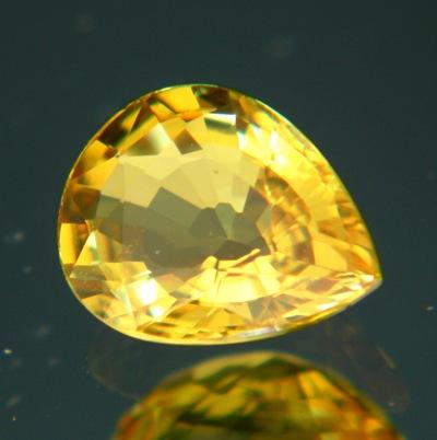 Rich golden yellow Ceylon sapphire