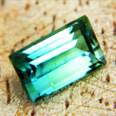 multi-green tourmaline without inclusions or treatments precision cut IGI report included