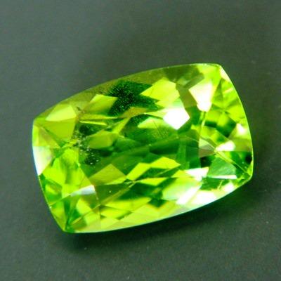 square cushion lime green pakistani peridot free of treatments over 10x10mm