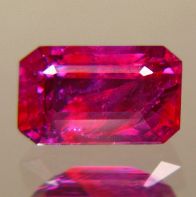 emerald shaped no heat ruby from Burma