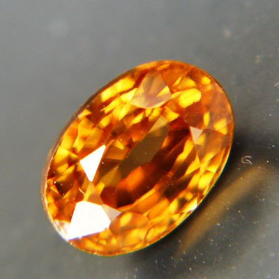 local cut unheated golden orange zircon from Sri Lanka in oval