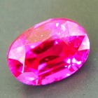 Neon red Burmese ruby without any inclusions even under the lens