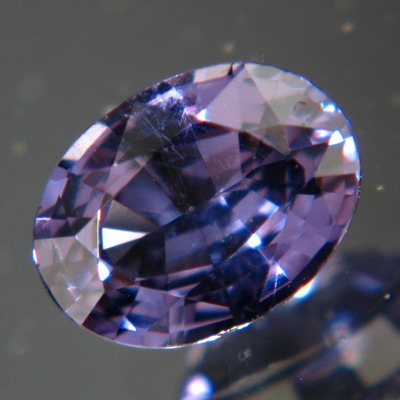 blue-purple colorchange spinel from Ceylon, oval and dark